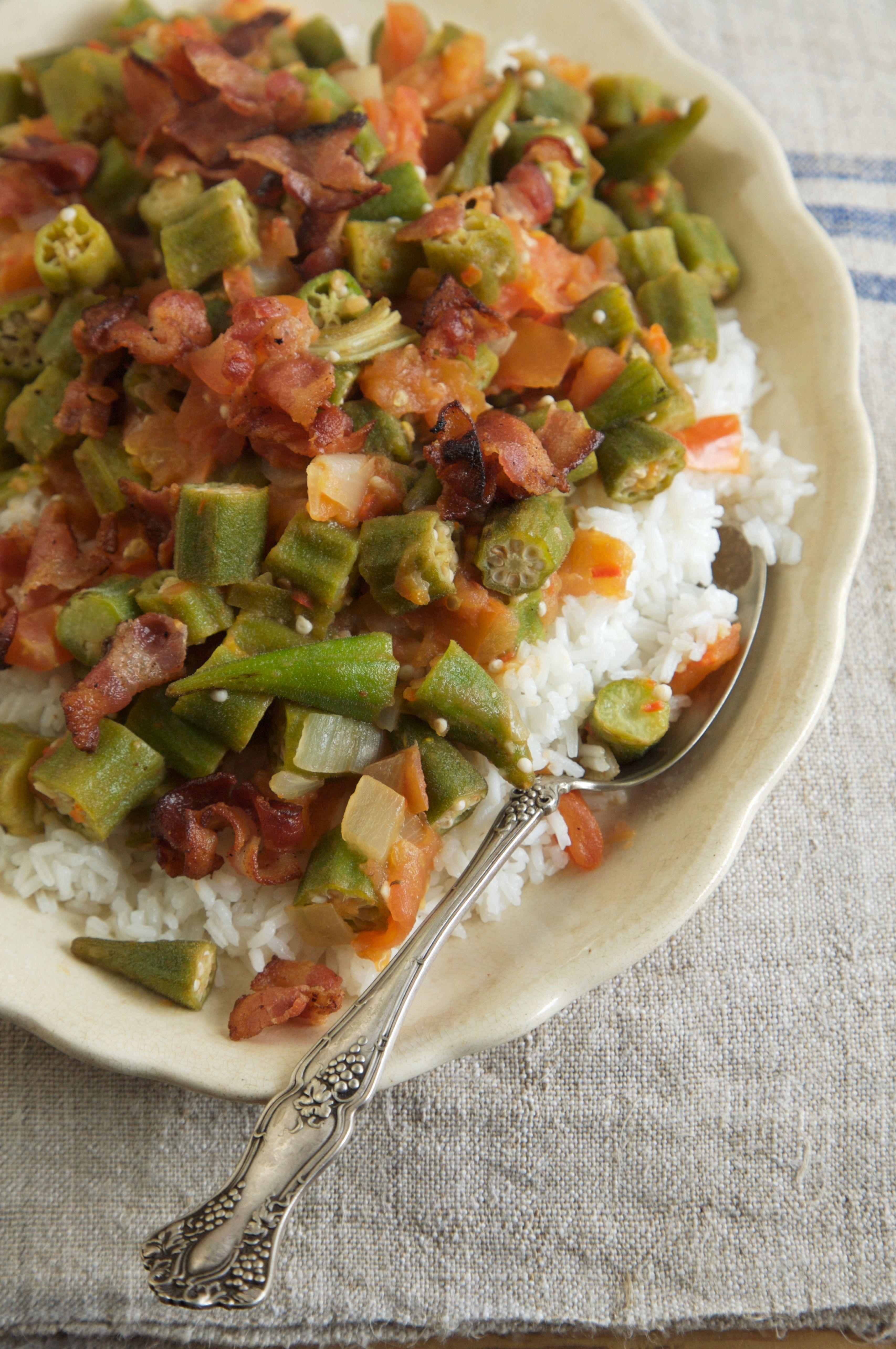 Okra With Seasoned Tomato Sauce Recipe