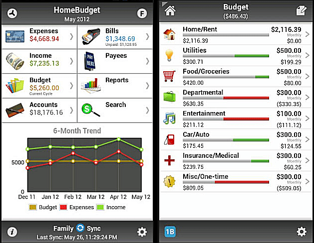 Use HomeBudget to keep a personal budget on your Android.