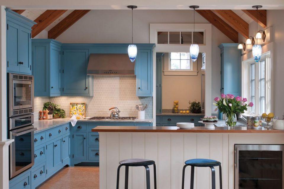 Beautiful blue kitchen design ideas for Blue kitchen ideas