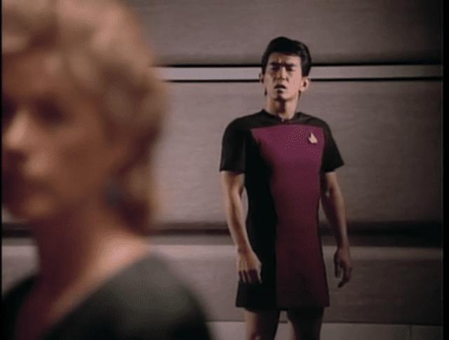 Man wearing a skant on Star Trek