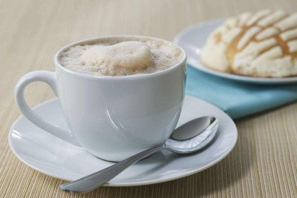 Hot chocolate with pan dulce