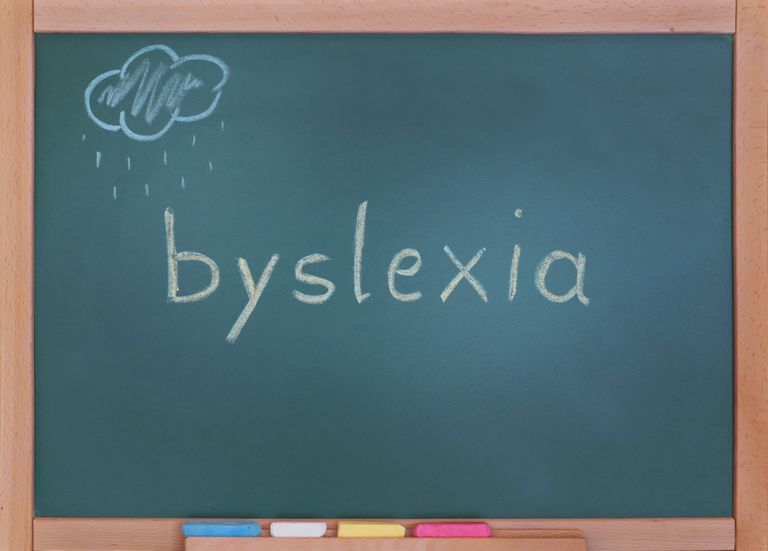 dyslexia written on chalkboard