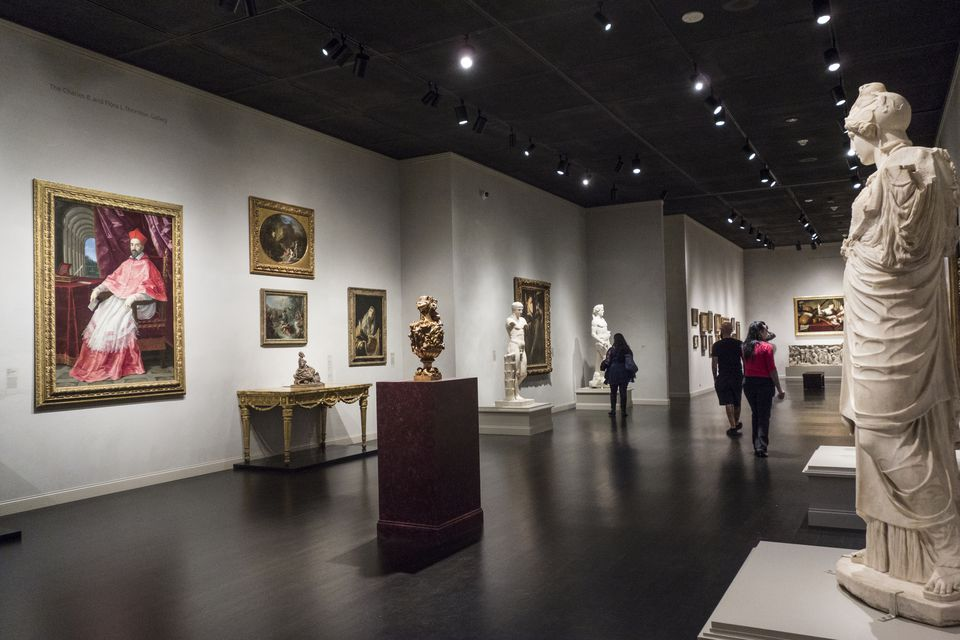 Art of the Ancient World gallery at LACMA, Los Angeles, California