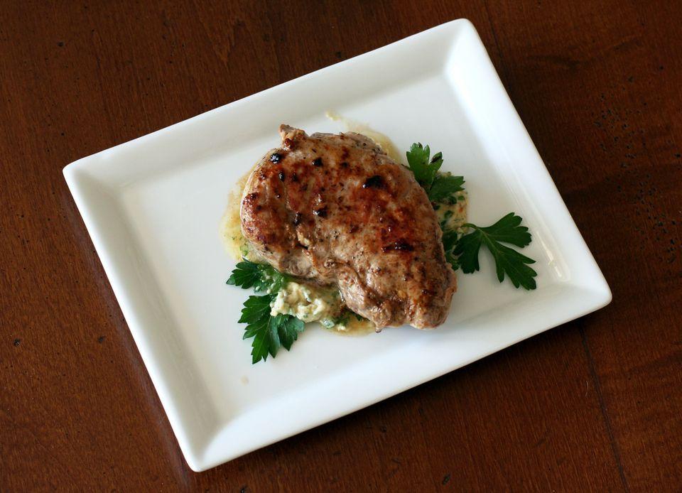 Pork Tenderloin With Herb and Mustard Butter