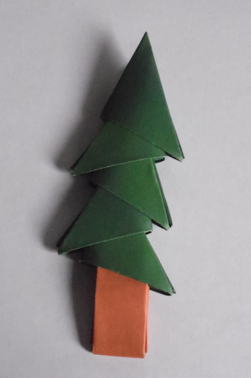 simplest 3d paper christmas tree how to make 3d origami units 7153