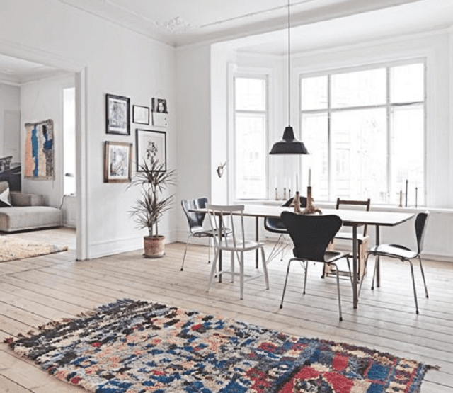 Oriental rugs in modern scandinavian design for Danish design home accessories