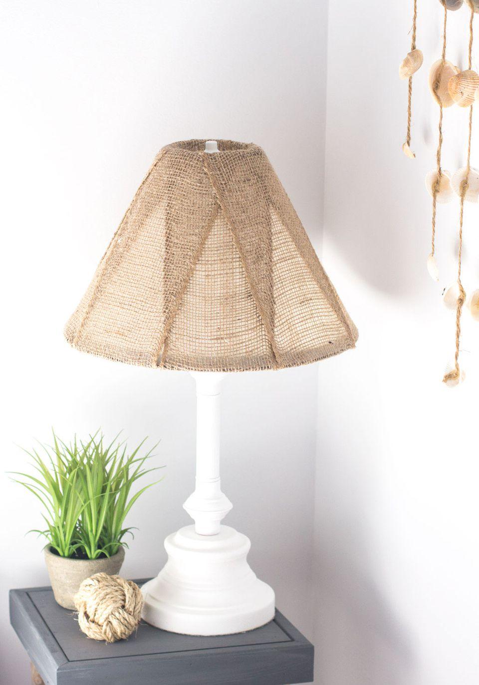 DIY Burlap Lampshade