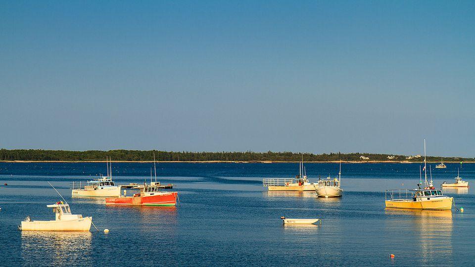 Boats in Prospect Harbor