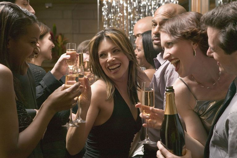 people celebrating at new years eve