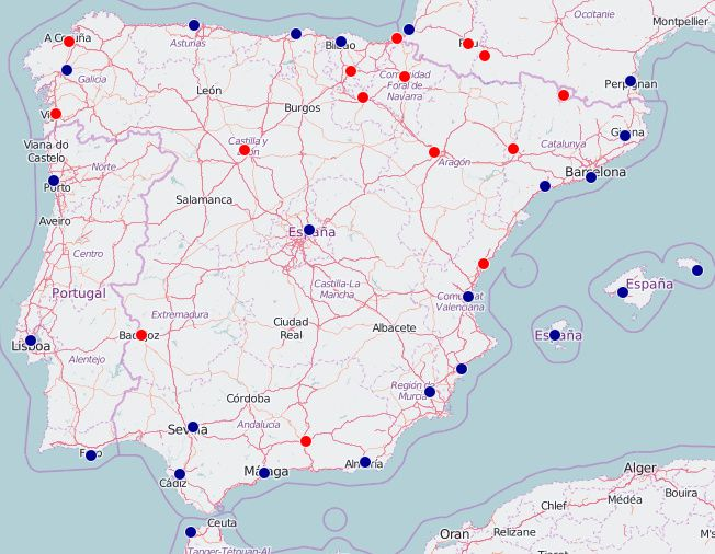 Map Of Spains Biggest Cities - Portugal map with airports