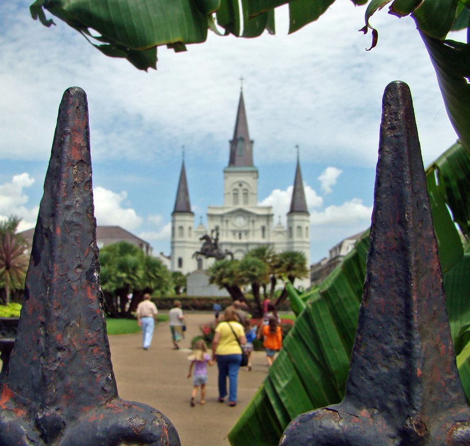 Jackson Square is a popular stop for visitors in New Orleans.