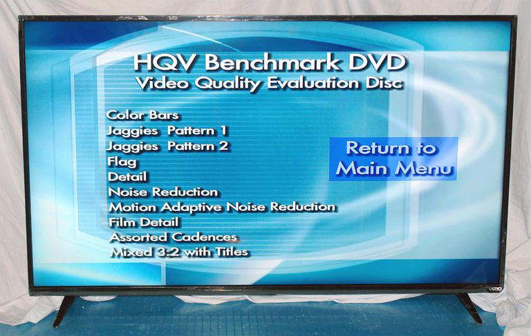 Vizio E55-C2 Smart LED/LCD TV - HQV Benchmark DVD Test List