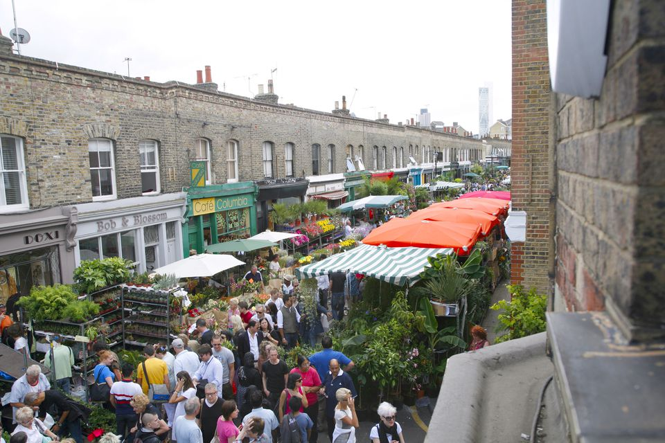 Columbia Road Flower Market in Bethnal Green