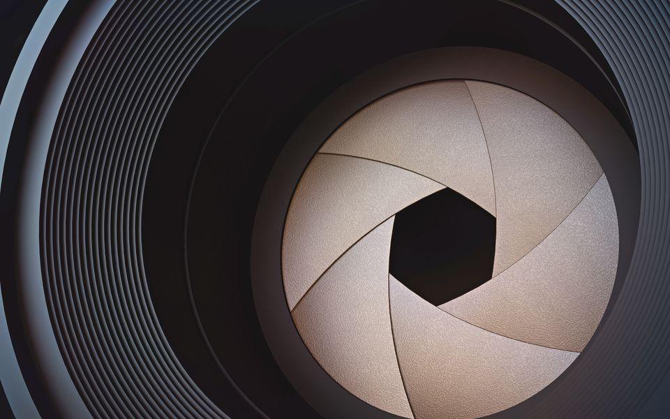 Camera lens, illustration