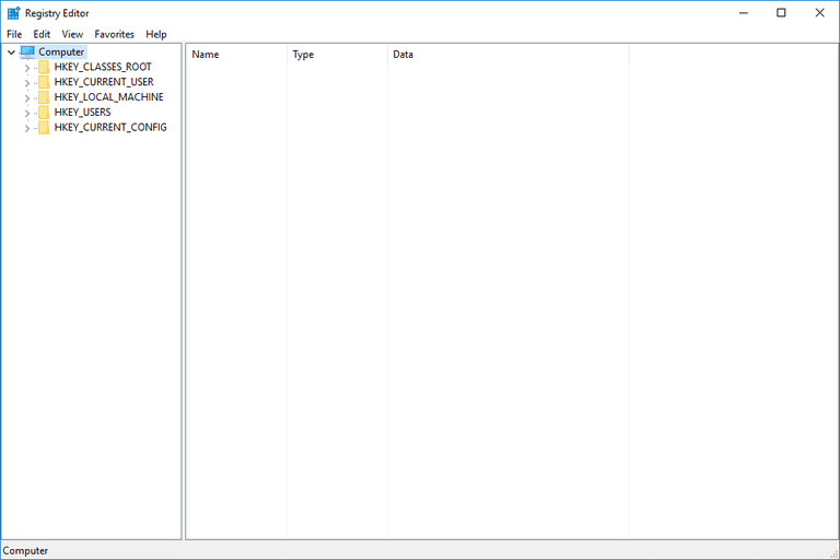 Screenshot of Registry Editor in Windows 10