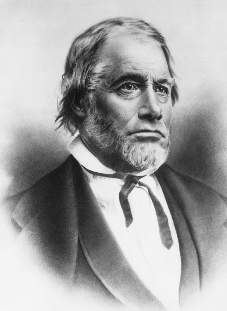 James W. Marshall who in 1848 discovered gold in the American River at John Sutter's mill in California, California, 1850.