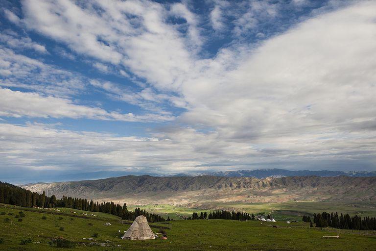 Yurt Village in Tekes County, Xinjiang Province, Kazakh Autonomous Prefecture