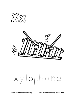Print The Pdf Xylophone Coloring Page And Color Picture Use Your Back Button To Return This Choose Next Printable Sheet