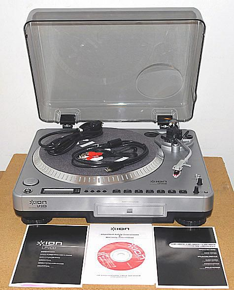 Ion Audio Lp2cd Usb Turntable And Cd Recorder Combination