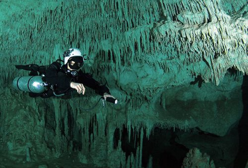 Image result for cave diving
