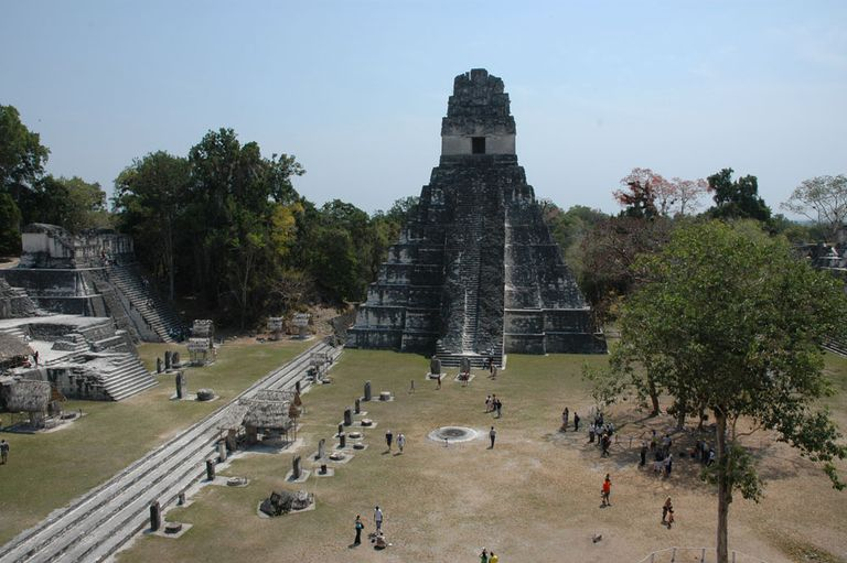 Great Plaza at Tikal, Peten, Guatemala