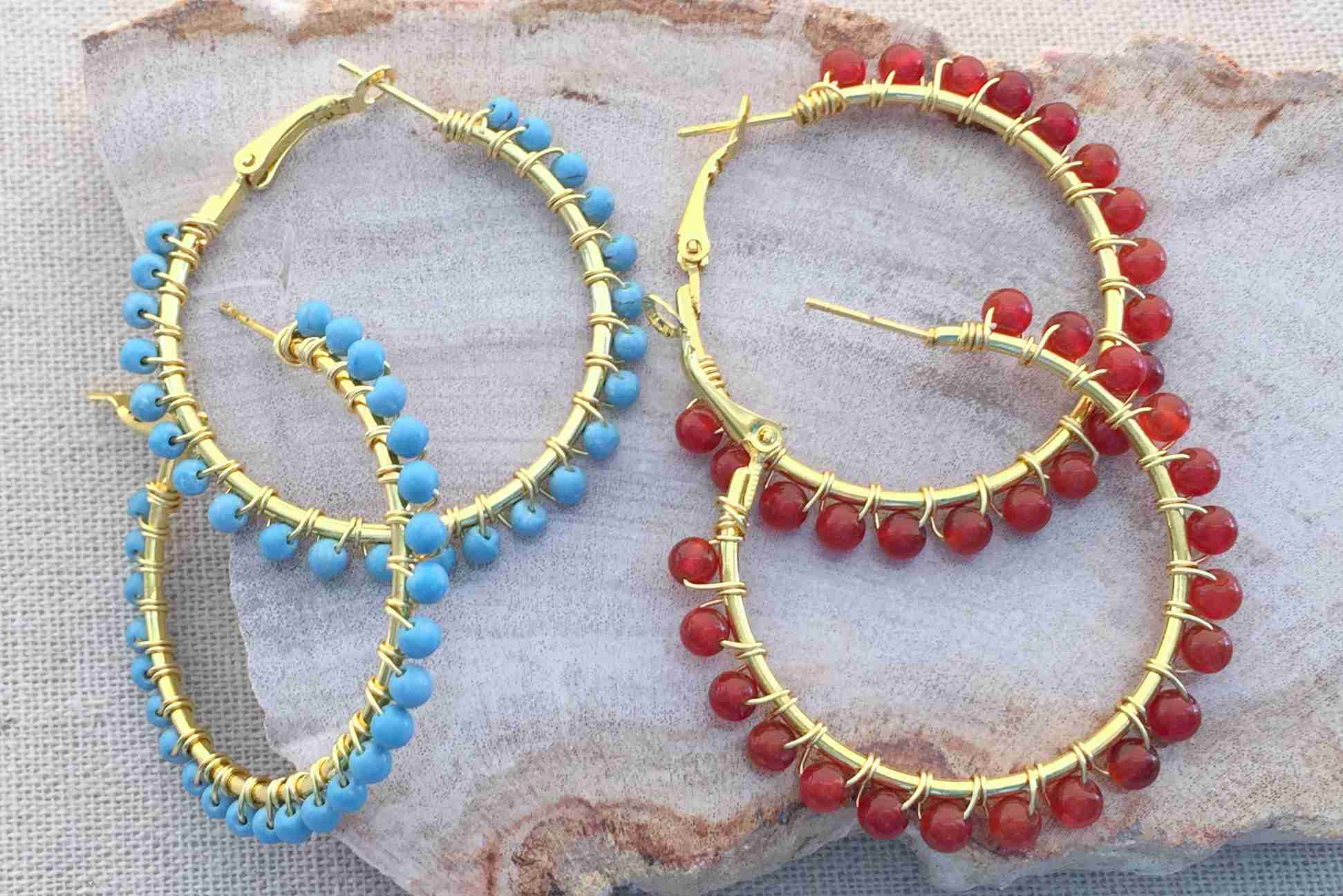 beads and bead african jewelry spear bold with product turquoise earrings w exotic tribal brass
