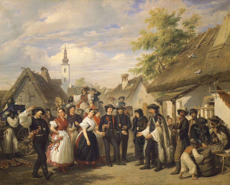 Hungary, The Arrival of the Bride by Miklos Barabas, 1856