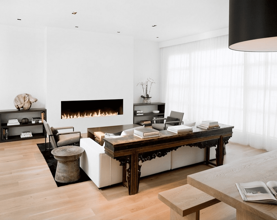 21 modern living room design ideas Modern living room with fireplace