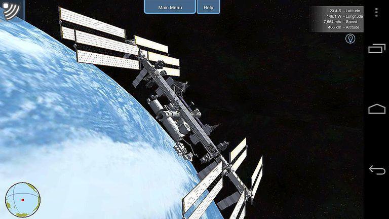 aplicaciones astronómicas android, rastrear satélites, app estación espacial