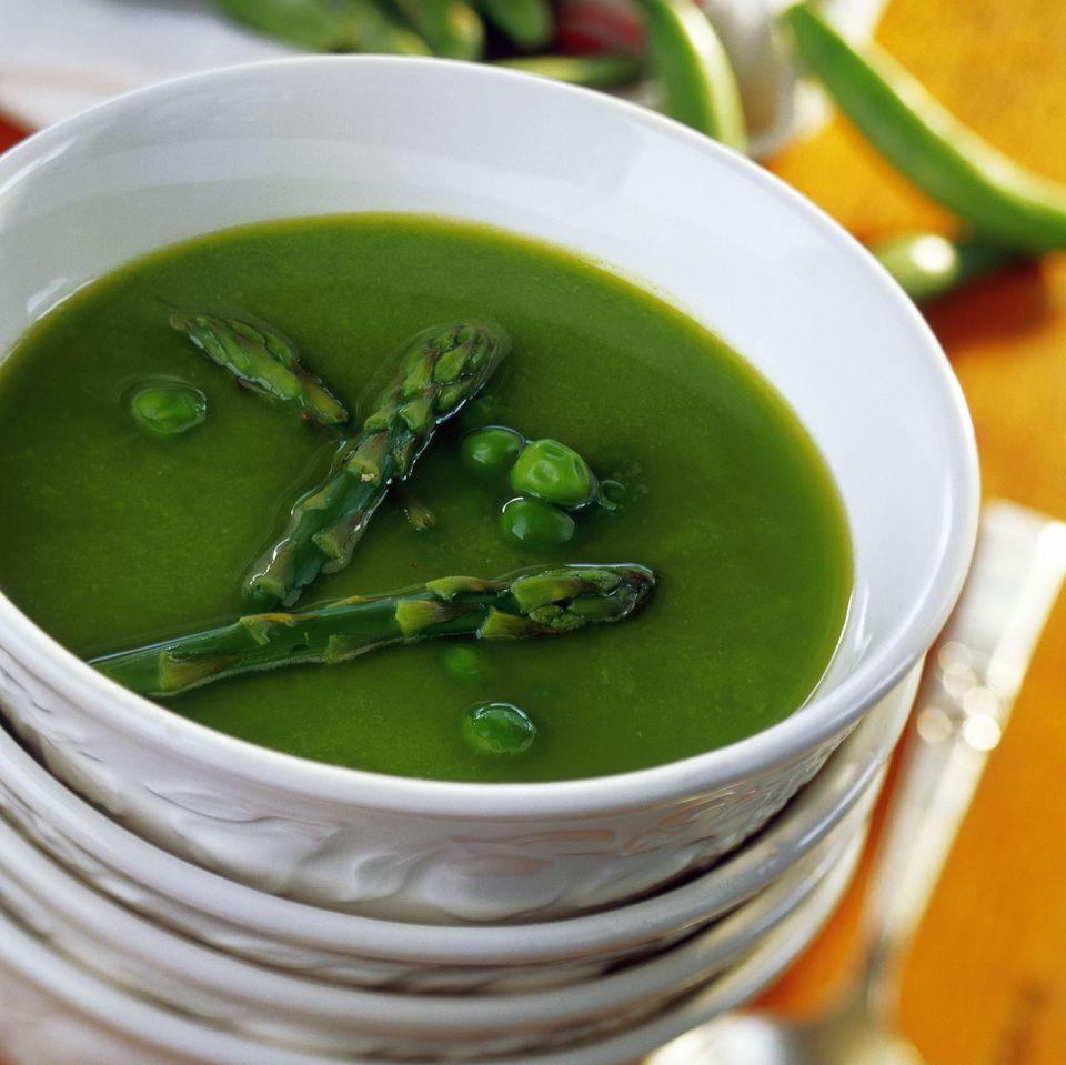 Asparagus-=Pea Soup