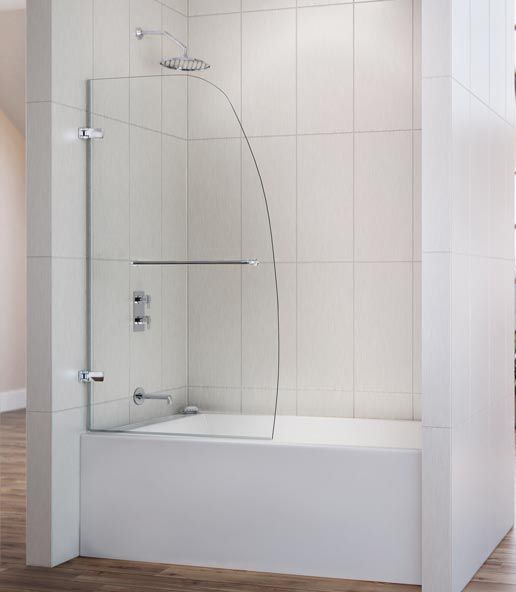 A bathroom with a view choosing the right shower door dreamline partial tub enclosureg planetlyrics Choice Image