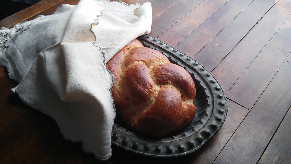 Maple Glazed Challah
