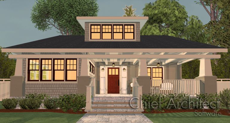 rendering of house on the cover of home designer suite 2015 - Home Designs 2015