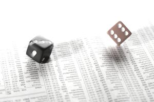 dice rolling over stock listings