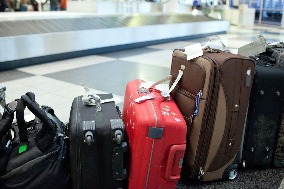 Luggage at baggage carousel