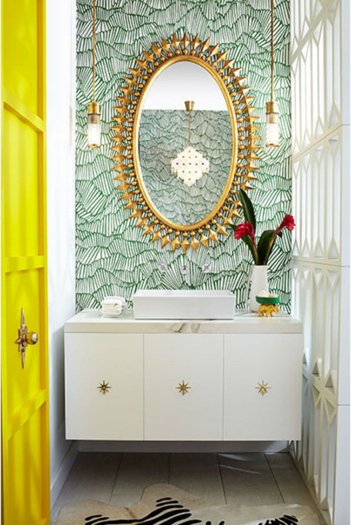 10 Colorful Powder Rooms To Inspire You