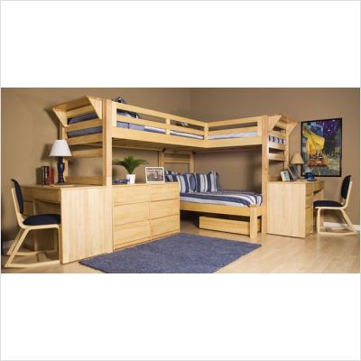 University Loft Triple Lindy Bunk Bed