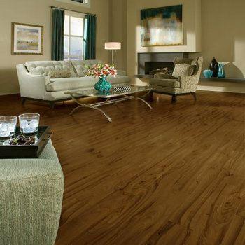 Laminate Flooring In a Multi-Colored Living Room Decor