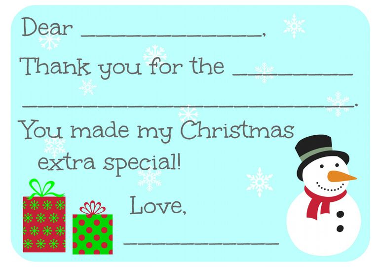 all free christmas thank you notes and thank you cards