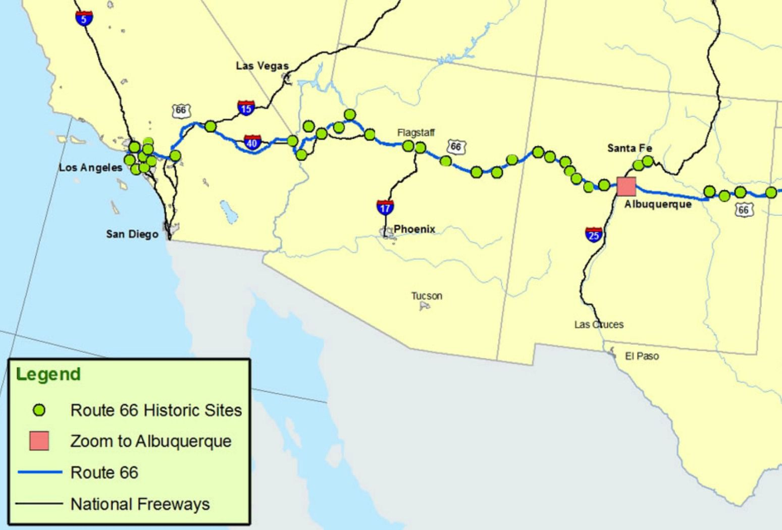 Maps of route 66 plan your road trip sciox Images