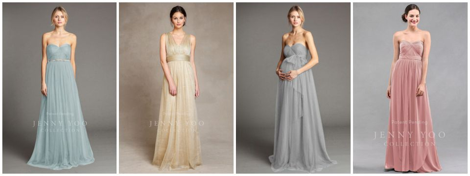 Collection of Convertible Bridesmaids Dresses from Jenny Yoo