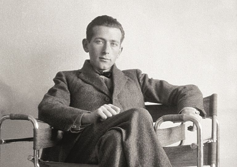 Marcel Breuer in the Wassily chair