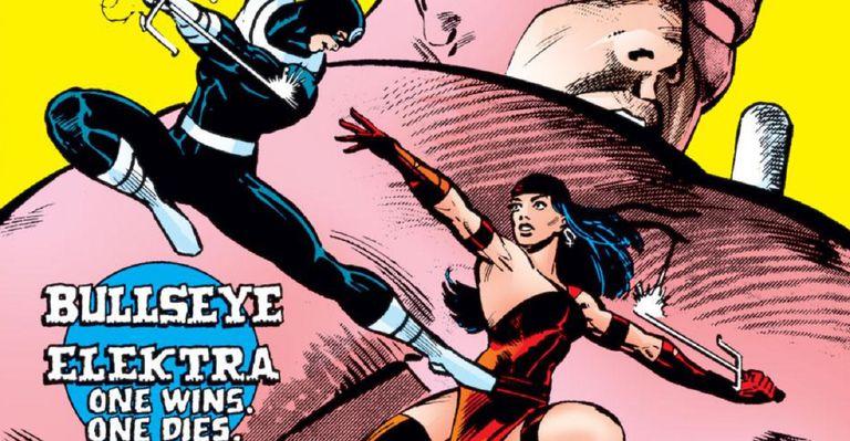 Elektra vs. Bullseye by Frank Miller