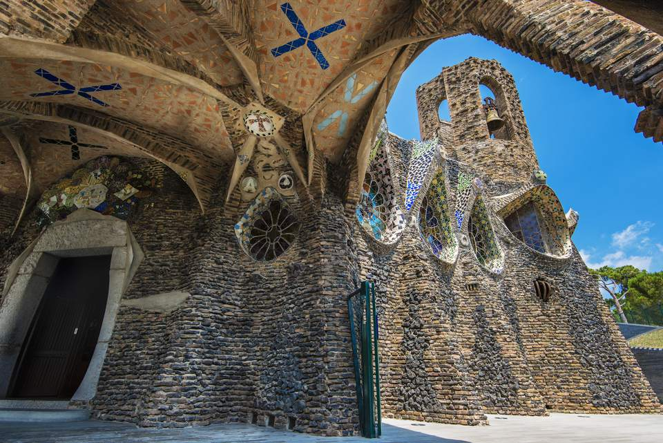 Church of Colonia Guell, Coloma de Cervello, Catalonia, Spain