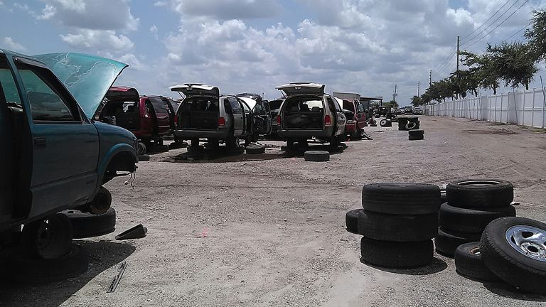 Junkyard of Cars