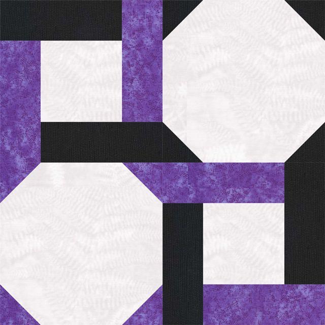 Free strip twist block pattern