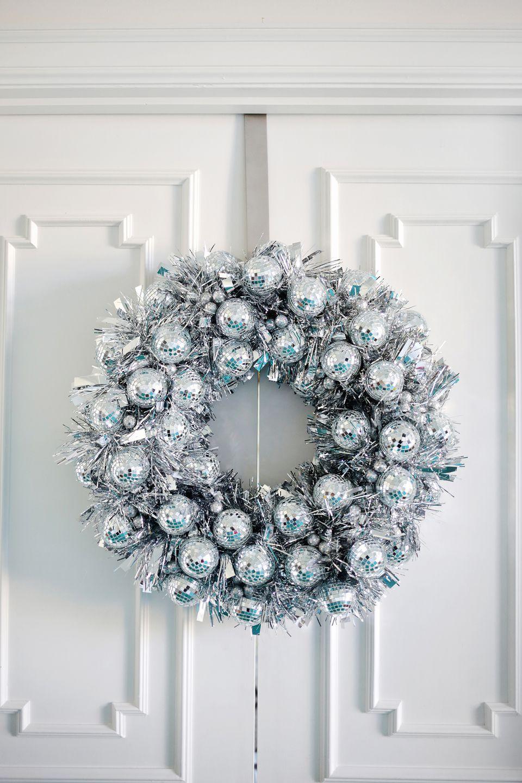 DIY Disco Ball Wreath