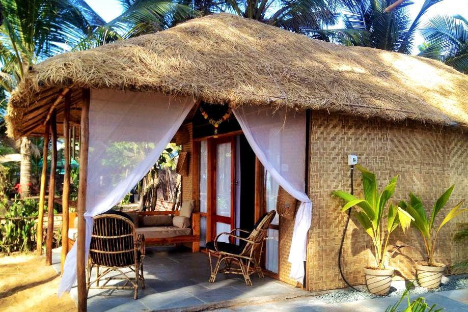 Luxury hut at Surya Beach Cafe, Galjibag.