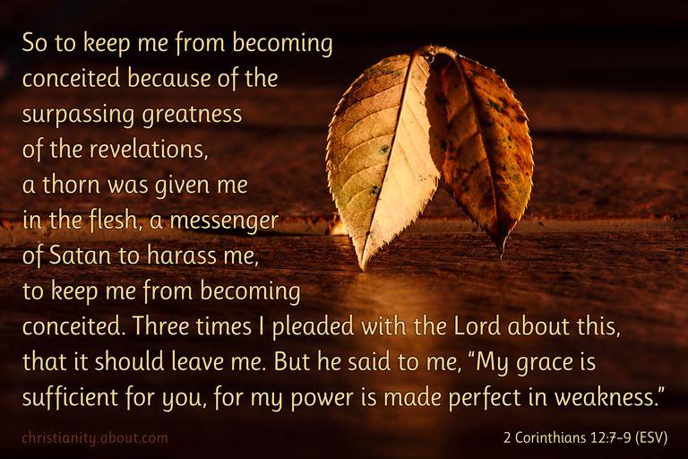 Bible Verse About Pain - 2 Corinthians 12:7-9