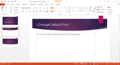 Replacing all the fonts in my presentation at one time how to quickly change the default font in powerpoint toneelgroepblik Image collections